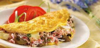 Recette : Omelette au crabe
