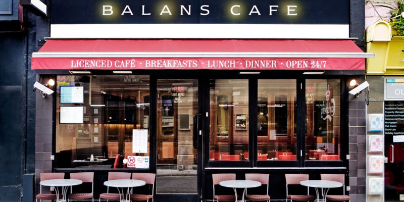 brunch London Balans Café brunch