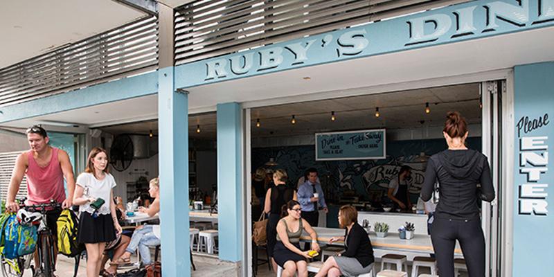 Sydney Ruby's Diner brunch