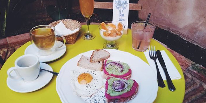 Valencia Bluebell Coffee Co. brunch