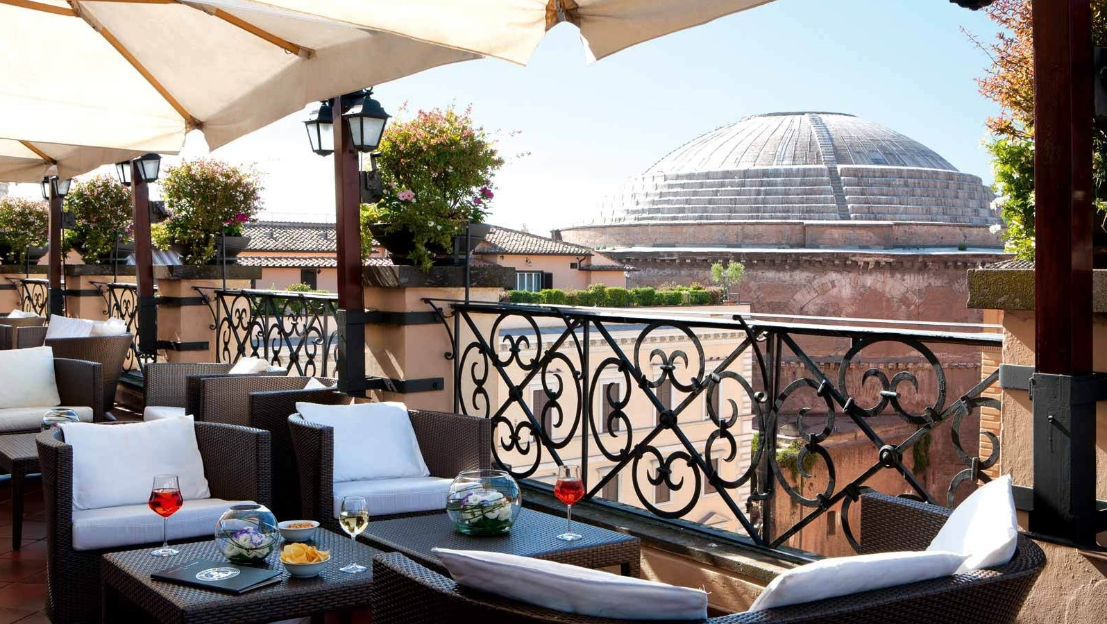 Roma Minerva Roof Garden brunch