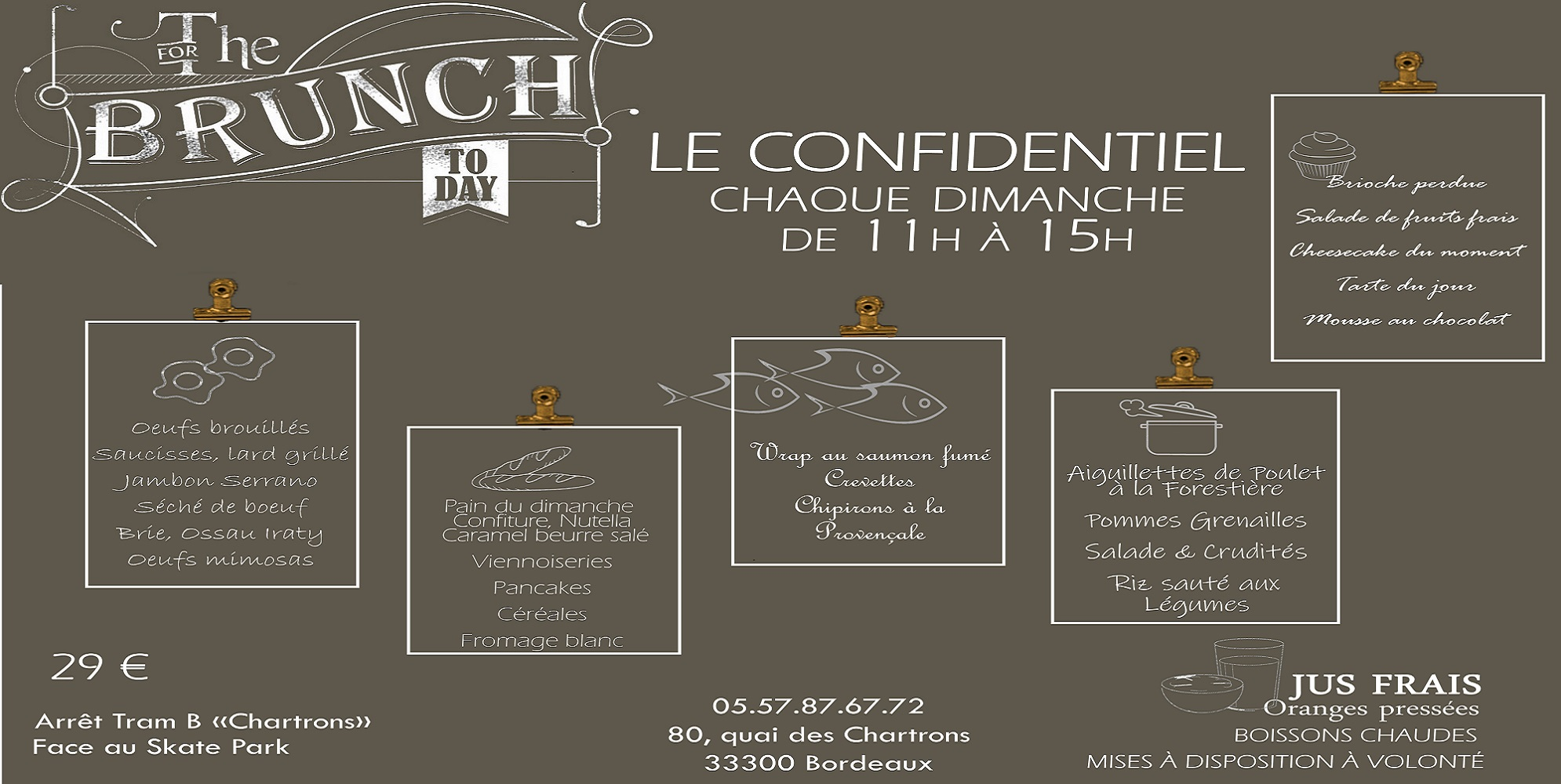 Brunch Le Confidentiel (33000 Bordeaux)