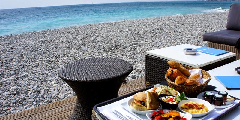 Brunch restaurant de la plage beau rivage 06000 nice for Au beau rivage la cuisine